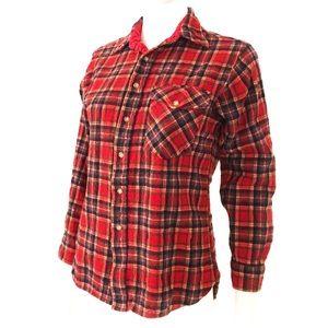 True Vintage LOBO PENDLETON red plaid shirt, youth